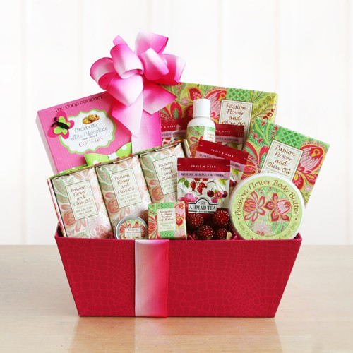 Fresh and Festive Passion Flower Spa Gift Basket