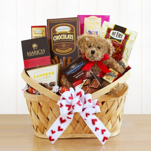 "I Come ""Bear""~ing Chocolate Valentine Gift Basket"